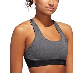NWT Adidas Alphaskin Medium Impact Sports Bra (S)
